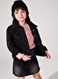 DeFacto Şerit Detaylı Jean Ceket Siyah